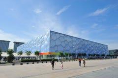 Centre national de Pékin Aquatics - cube en eau Images libres de droits