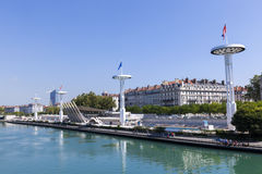 Centre Nautique at the Rhone river Stock Photo