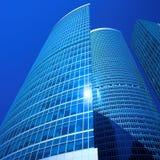 Centre neuf d'affaires de gratte-ciel dans la ville de Moscou Image libre de droits