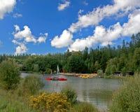 Centre o lago Parcs fotografia de stock