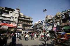 Centre Of Old Market, Chandni Chowk Stock Photos