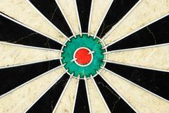 Centre of an old dart board. Royalty Free Stock Image