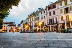 Centre of Orta San Giulio, Italy Stock Images