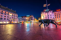 Centre of Oslo city , Norway Royalty Free Stock Photo