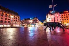 Centre of Oslo city , Norway Stock Photos