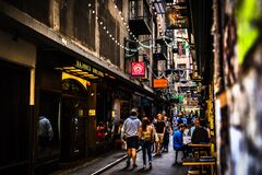 Free Centre Place Arcade In Melbourne Stock Images - 186151014