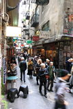 Cafe bars Lane Melbourne Royalty Free Stock Photography