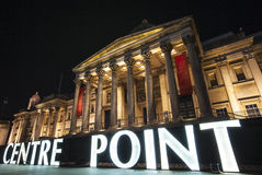 Centre Point Sign and the National Gallery in London Stock Photos