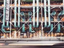 Centre Pompidou den mest berömda deconstructionarkitekturen i världen, Paris, Frankrike arkivbilder