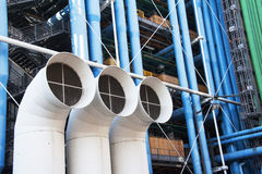 Centre  Pompidou, detail Royalty Free Stock Photos