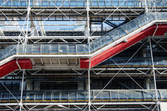 Centre Pompidou, detail royalty free stock photography