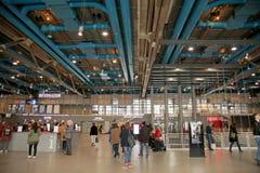 Centre Pompidou museum in Paris. Centre Georges Pompidou museum interior in Paris, France Stock Photography