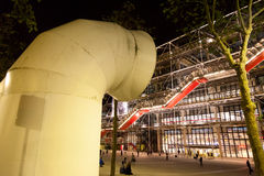 Centre Pompidou at night, Paris Royalty Free Stock Images