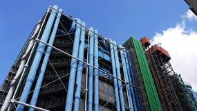 Centre Pompidou på Paris, Frankrike Fotografering för Bildbyråer