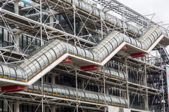 Centre Pompidou Parijs Stock Afbeelding