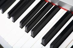 Centre sélectif d'un plan rapproché de clavier de piano Photographie stock
