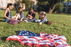 Centre sélectif de drapeau américain Photos stock