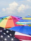 Centre-se a imagem de fundo empilhada do 4o da celebração de julho sobre um F Foto de Stock Royalty Free