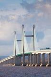 Centre Span Of The New Severn Bridge , UK Stock Photography