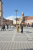 Centre square in Brasov Royalty Free Stock Images