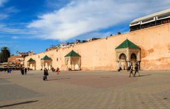 A centre Square in Meknes, Morocco. The Historic City of Meknes has exerted a considerable influence on the development of the civil and military architecture ( Royalty Free Stock Photography