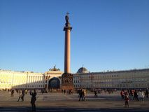 Centre square in Saint Petersburg Stock Images