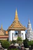 Centre statua Royal Palace Phnom Penh Fotografia Stock