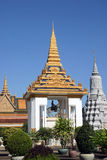 Centre Statue of a horse Royal Palace Phnom Penh. The Royal Palace in Phnom Penh Cambodia on a sunny Stock Photography