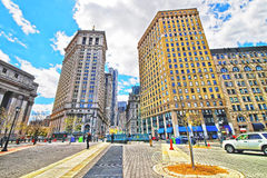 Centre Street view in Civic Center in Lower Manhattan Stock Photography