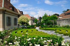 Centre suisse de village Photo stock
