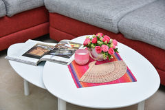 Centre table in living room Stock Image