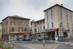 The centre of Varilhes, France Royalty Free Stock Images