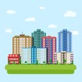Centre vert du centre de ville moderne illustration libre de droits