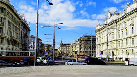 Centre of Vienna. Rapid pace of life in the business heart of Europe.Vienna,Austria Stock Photography