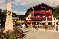 Centre of the village. Konigssee. Germany. Centre of the village. South of Berchtesgaden. Starting point for lake cruises. Konigssee. Germany Stock Photography