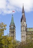 Centre and West Block Towers Stock Photography