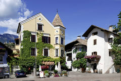 Centre of the wine village of Girlan in South Tyrol Stock Photo