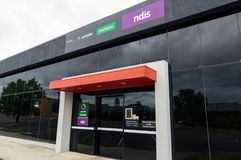 Centrelink, van Gezondheidszorg voor bejaarden en NDIS-bureau in Ararat in Australië royalty-vrije stock foto's