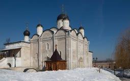 Vvedensky kvinnlig kloster i Serpukhov Royaltyfri Foto