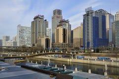 Centres économiques de ville de CBD-Pékin photos libres de droits