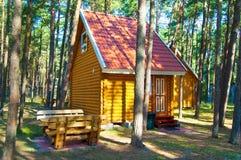 Centres de touristes sur la broche de Curonian Images libres de droits
