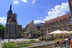 Centret av Stuttgart, Tyskland Arkivfoto