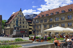 Centret av Stuttgart, Tyskland Arkivbilder