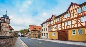 Centret av Wasungen i den Thüringen Tyskland arkivbilder