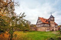 Centret av Wasungen i den Thüringen Tyskland arkivbild