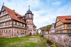 Centret av Wasungen i den Thüringen Tyskland arkivfoton