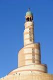 centrez le minaret islamique Qatar de doha Image libre de droits