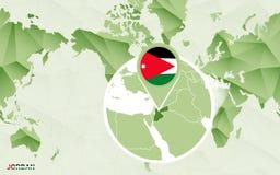 Centric de wereldkaart van Amerika met de overdreven kaart van Jordani? vector illustratie