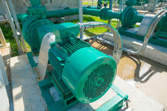 Centrifugal pump and motor. In power plant Stock Photo