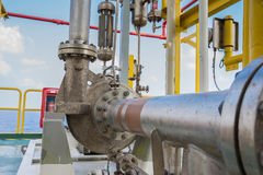 Centrifugal pump in oil and gas processing platform. Used for transfer liquid condensate Royalty Free Stock Photography